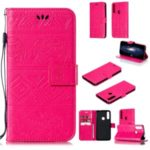 Imprint Elephant Leather Phone Shell for Huawei P Smart Z / Y9 Prime 2019 – Rose
