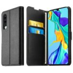ELESNOW Wallet Stand Leather Cell Phone Case+Tempered Glass Screen Film for Huawei P30