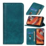 Litchi Texture Auto-absorbed Split Leather Cell Phone Shell with Stand for Huawei Honor 9X Pro – Green