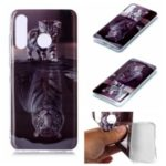 Animal Pattern IMD TPU Protective Case for Huawei P30 Lite – Cat and Tiger Reflection
