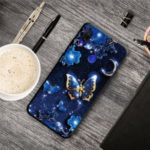 Pattern Printing TPU Phone Cover Case for Xiaomi Redmi Note 7 / Note 7 Pro (India) / Note 7S – Blue Butterfly