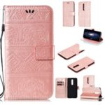 Imprinted Elephant Pattern Leather Wallet Stand Case for Xiaomi Redmi K20 / Mi 9T / K20 Pro / Mi 9T Pro –  Rose Gold