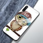 Pattern Printing Tempered Glass + TPU Back Shell for Xiaomi Mi 9 – Cute Owl