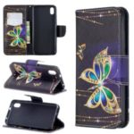 Pattern Printing Leather Wallet Case for Xiaomi Redmi 7A – Colorized Butterfly