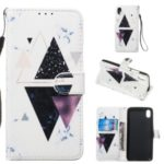 Pattern Printing Leather Wallet Stand Phone Case Cover for Xiaomi Redmi 7A – Triangle