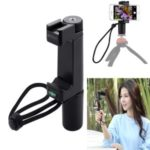 PULUZ PU366 Vlogging Live Broadcast Handheld Grip Selfie Rig Stabilizer Tripod Adapter Mount with Cold Shoe Base & Wrist Strap