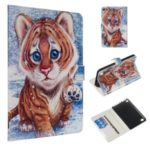 Marble Style Printing Surface Tablet Shell for Kindle HD 8 (2018)/(2017)/(2016) – Tiger