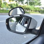 3R-091 360 Degree Adjustable Wide-angle Rearview Mirror Blind Spot Snap-on Parking Auxiliary Rearview Mirror Left – Black