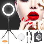 MANTOO RL 12-inch ?Ring Photography LED Fill Lamp with Tripod Stand – US Plug