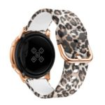 20mm Pattern Printing Silicone Wrist Strap for Samsung Galaxy Watch Active – Leopard Texture