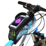 ROCKBROS Bicycle Bike Bag Rainproof Touch Screen Cycling Top Front Tube Frame Bag 5.8-inch Phone Case – Blue