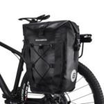 ROCKBROS 19-inch 27L Capacity Waterproof Pannier Bag Cycling Travel Rear Seat Carrier – Black