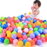 50pcs Chirldren's Toy Balls Colorful Pit Balls Plastic Water Pool Ocean Wave Balls [Suitable for 1-6 years old]