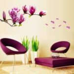 Flowers Removable Wall Art Decals Vinyl Stickers Wallpaper Mural Stylish Unique Craft – Rose Flower