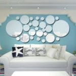 26pcs/set Acrylic Polka Dot Wall Mirror Stickers Mural Stickers DIY Art Decal