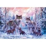 5D Diamond Home Room Wall Decor Painting Wolves Resin Embroidery Cross Stitch Craft