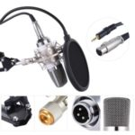 Microphone Mic Kit Professional Broadcasting Studio Recording Condenser – White