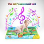 Musical Learning Mat Animal Farm Flash Music Carpet Blanket Touch Toy for Baby Kids, 71 x 49 CM