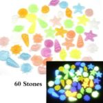 60pcs/Bag DIY Home Decor Luminous Sea Conch Shell Starfish Colorful Pebbles Rocks Stone