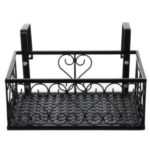 Storage Stand Rack Deck Rail Flowerpot Railing Shelf Balcony Rail Planter Shelf Fence Railing Flower Pots Holder – L