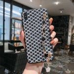 Bling Sequin PU Leather + Plastic + TPU Hybrid Phone Case with Metal Shoulder Strap for iPhone XS Max 6.5 inch – Black