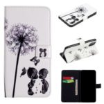 Printing Surface PU Leather Wallet Stand Shell for iPhone (2019) 5.8-inch – Dandelion