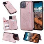 Anti-fall Imprinted Cat Tree Leather Coated TPU Shell for iPhone (2019) 5.8-inch – Rose Gold