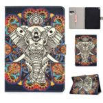 Pattern Printing PU Leather Protection Shell [Wallet Stand] for iPad Pro 10.5-inch (2017)/(2019) – Elephant