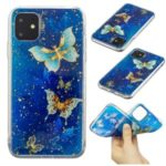 Glitter Sequins Inlaid Style TPU Phone Cover for iPhone (2019) 6.5-inch – Butterflies