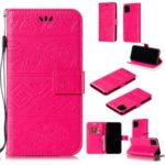 Imprint Elephant Leather Phone Shell for iPhone (2019) 6.5-inch – Rose