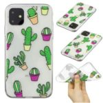 Pattern Printing Clear Soft TPU Phone Cover for iPhone (2019) 5.8-inch – Cactus