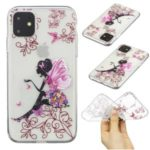 Pattern Printing Clear Soft TPU Protective Case for iPhone (2019) 6.1-inch – Butterfly Girl