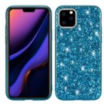 Glittering Sequins Electroplating TPU+PC Phone Shell for iPhone (2019) 6.5-inch – Cyan