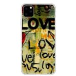 Pattern Printing TPU Back Case for iPhone (2019) 6.1-inch – LOVE Pattern