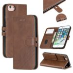 Leather Stand Case with Wallet Shell for iPhone 6/6s/7/8 4.7-inch – Coffee