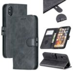 Wallet Leather Stand Protective Cell Phone Case for iPhone X/XS 5.8 inch – Black