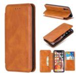 HAOXFA.W Detachable Magnet Leather Stand Wallet Phone Shell for iPhone XS Max 6.5 inch – Brown