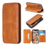 HAOXFA.W Magnet Leather Detachable Wallet Case Phone Shell for iPhone X/XS 5.8 inch – Brown