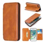 HAOXFA.W Detachable Wallet Phone Case Magnet Leather Shell for iPhone 7/8 4.7 inch – Brown