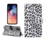 Leopard Texture Wallet Leather Case with Stand Phone Cover for iPhone 11 6.1 inch – White
