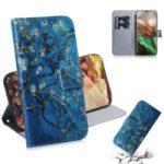 Pattern Printing Wallet Leather Stand Case for Samsung Galaxy Note 10 – Tree with Flowers