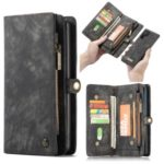 CASEME 008 Series 2-in-1 Multi-slot Wallet Vintage Split Leather Protective Case for Samsung Galaxy Note 10 Pro – Black
