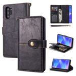 Retro Leather Shell Casing for Samsung Galaxy Note 10 Plus – Black