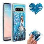 Dynamic Glitter Powder Sequins Pattern Printing Embossed TPU Case for Samsung Galaxy S10 – Beauty