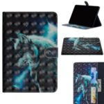 Printing Style Light Spot Decor Leather Wallet Phone Cover for Samsung Galaxy Tab A 8.0 Wi-Fi (2019) SM-T290/T295 – Wolf
