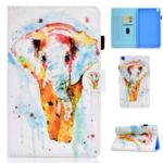 Pattern Printing Leather Card Holder Stand Cover for Samsung Galaxy Tab A 8.0 Wi-Fi (2019) SM-T290 – Elephant