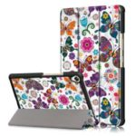 Pattern Printing Tri-fold Stand PU Leather Smart Tablet Case for Huawei MediaPad M6 8.4-inch – Butterfly