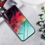 Gradient Color Tempered Glass + PC + TPU Hybrid Shell for Huawei Honor 20 Pro – Colorful Star Clouds