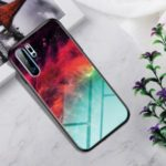 Gradient Color Tempered Glass + PC + TPU Hybrid Phone Case Shell for Huawei P30 Pro – Colorful Star Clouds