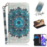 Light Spot Decor Pattern Printing Leather Wallet Protection Phone Case with Stand for Huawei Honor 9X / Honor 9X Pro – Blue Flower